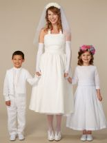Cotton Voile Pleated Flower Girl Dress | Patrizia Wigan Designs